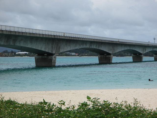 下から見た古宇利大橋
