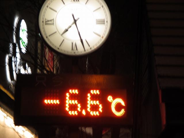 小樽運河の温度計