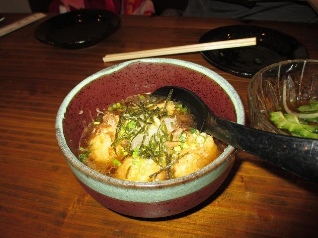 夕食のジーマミー豆腐の揚げ出し