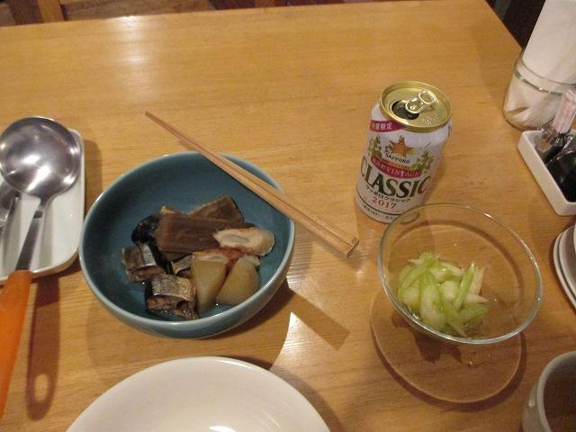 ごぼうと魚の煮物・セロリのサラダ