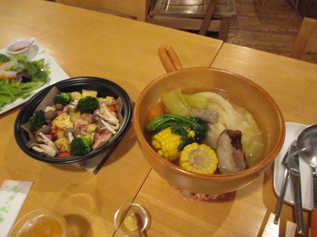 ポトフと鶏肉のグリル料理