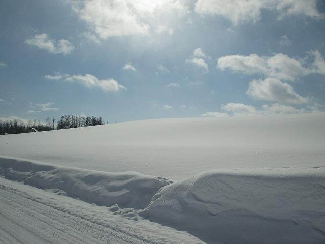 雪道の車道