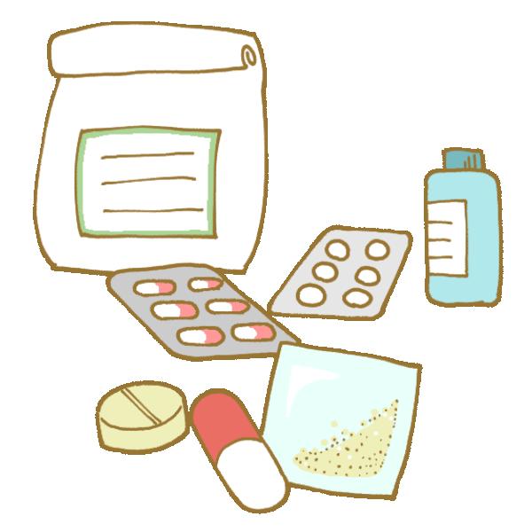 様々な薬のイラスト