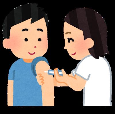 予防接種をしているイラスト