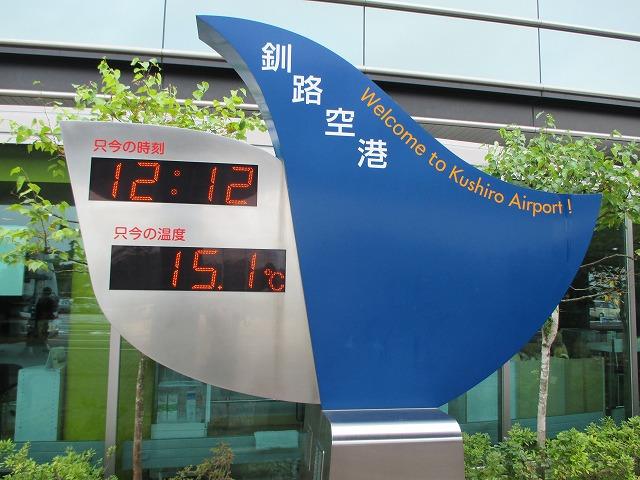 釧路空港の気温