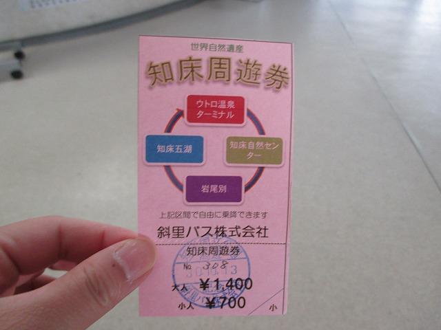 知床周遊券バスチケット