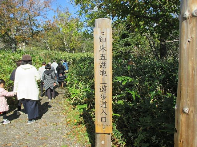 知床五湖の遊歩道入り口