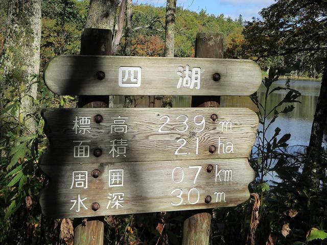 四湖の看板
