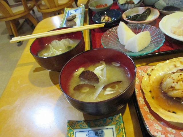 ホタテ貝の赤ちゃんの味噌汁