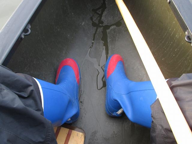 長靴の足元