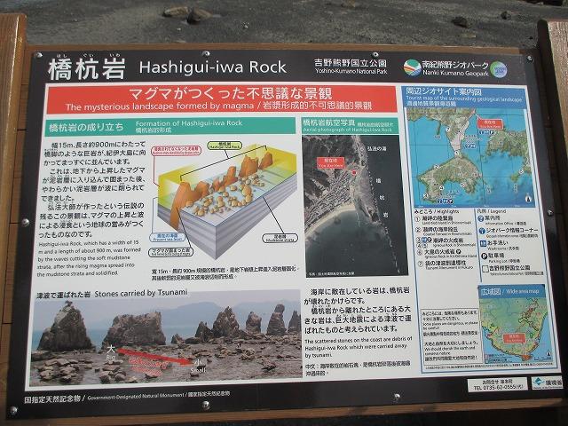 橋杭岩の説明書き