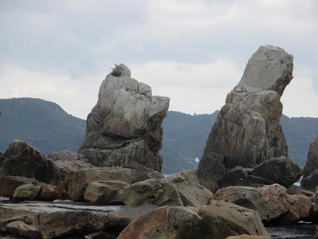 犬の横顔のような岩