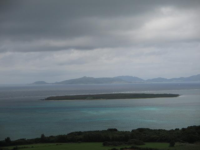大岳頂上からの眺め・小さな島