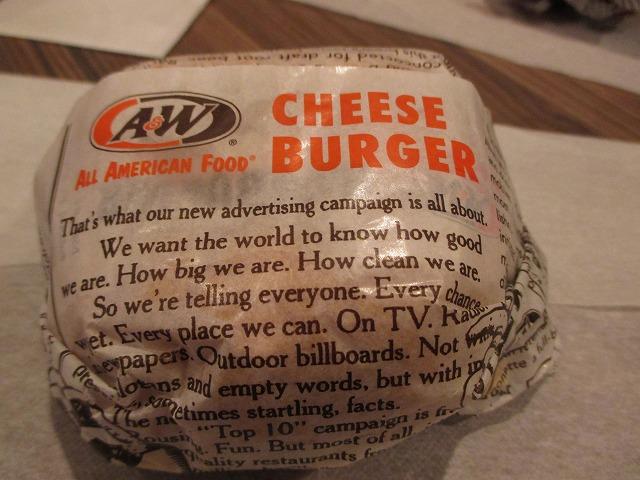 A&Wのチーズバーガー