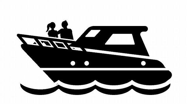高速船のシルエット