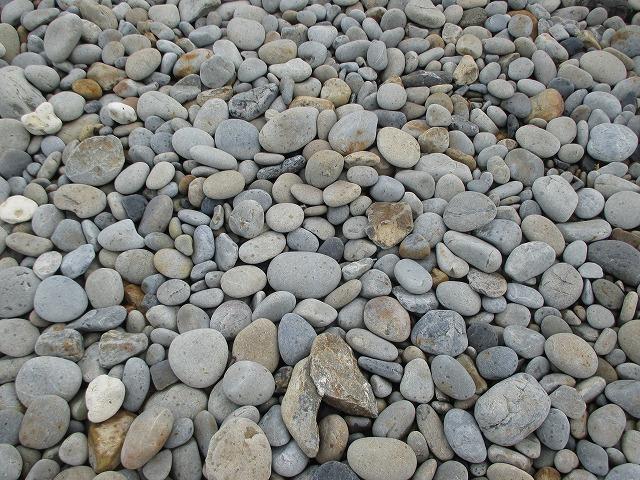 ホノホシ海岸の丸い石