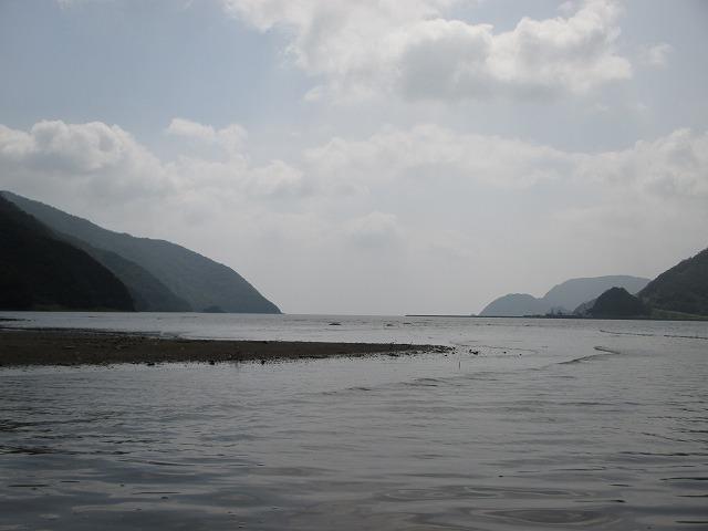 海と川の境目あたり
