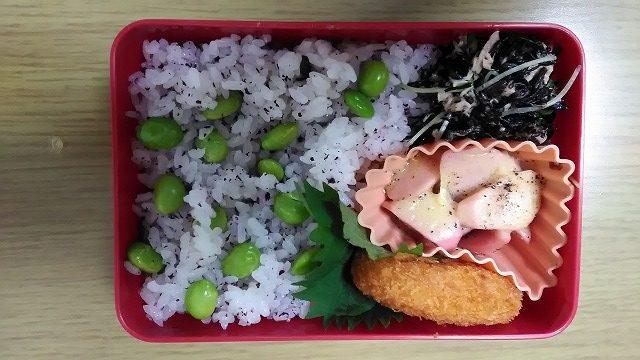 枝豆ごはんのお弁当2