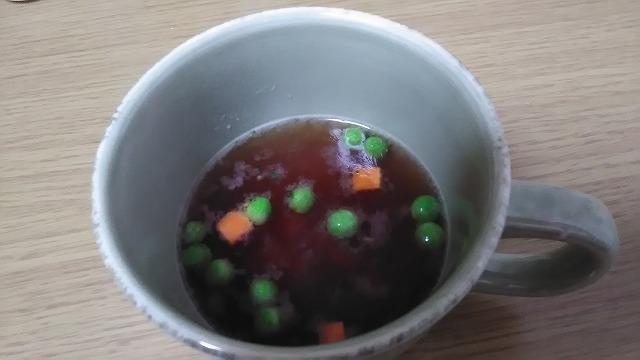 ミックスベジタブル入りオニオンスープ