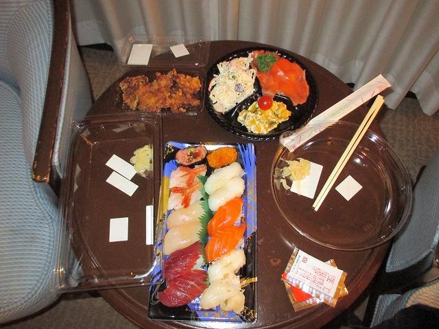 お寿司、オードブル、唐揚げ