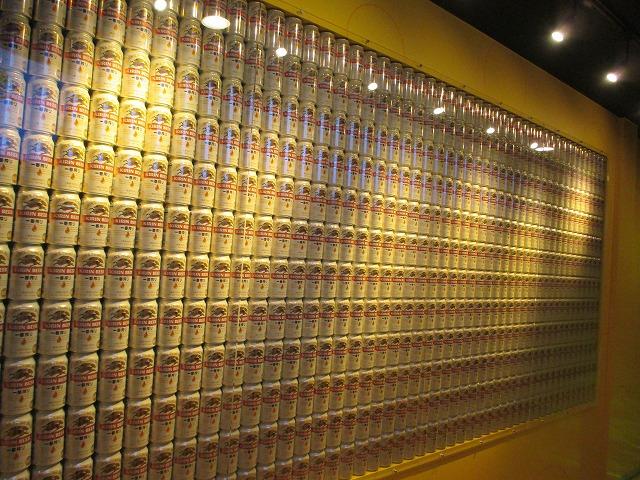 大量のキリン一番搾り缶
