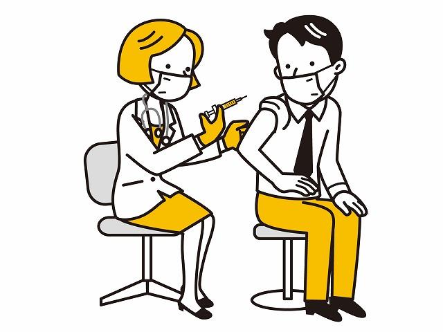 女医が注射をするイラスト