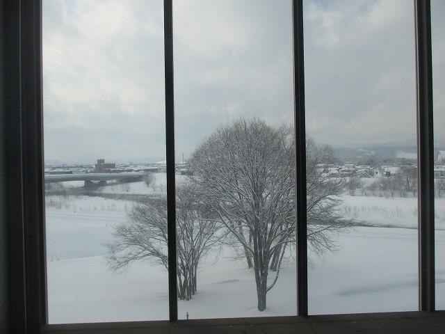 旭川駅ホームからの風景