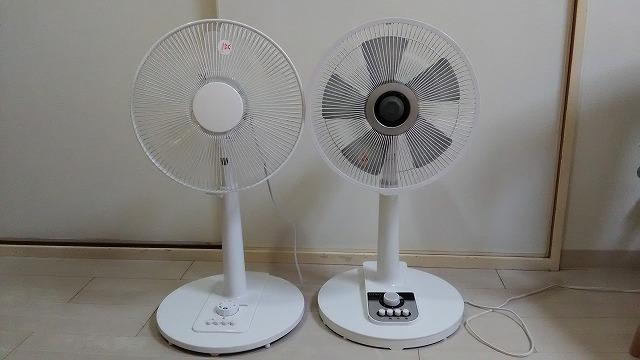 2台の扇風機