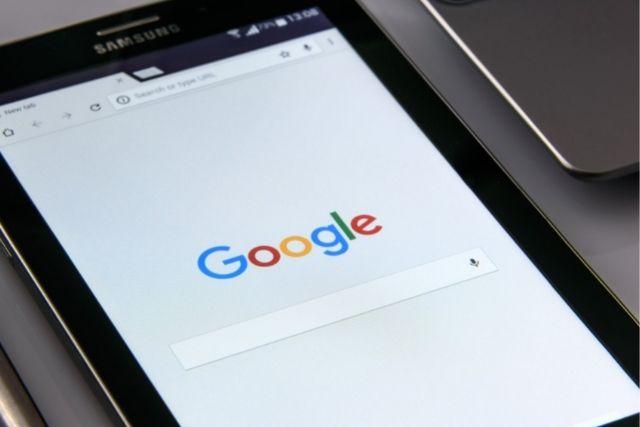 スマホのグーグル検索画面